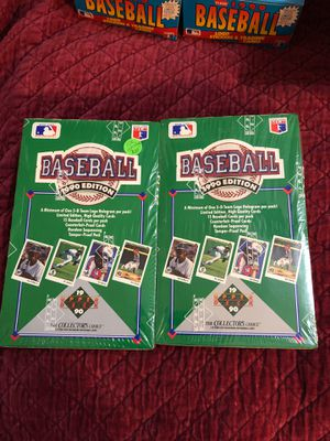 Factory sealed box of 36 packs of 1990 upper deck baseball cards for Sale in Calverton, MD
