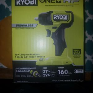 Ryobi One+HP Impact Wrench (18v 4-mode Compact Brushless) for Sale in Linden, NJ
