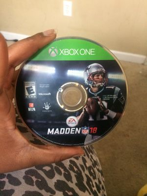 Madden 2k18 xBox One for Sale in Washington, DC