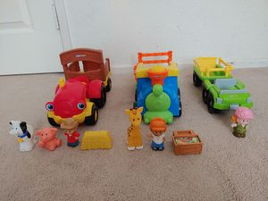 Fisher Price Little People Farm Tractor/Zoo Train/Safari Truck; Barely Used; $10 each for Sale in Riverside, CA