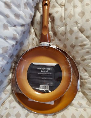 Brand New Copper 10in and 8in Fry Pans for Sale in Dallas, TX