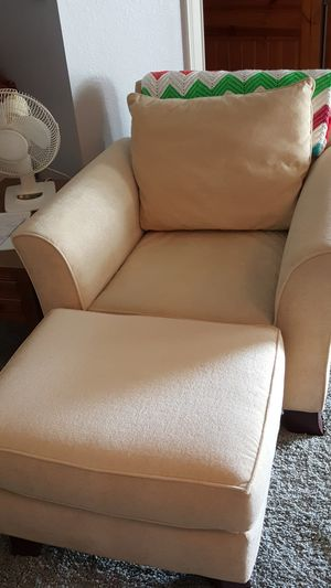Chair and foot stool for Sale in Avon Park, FL