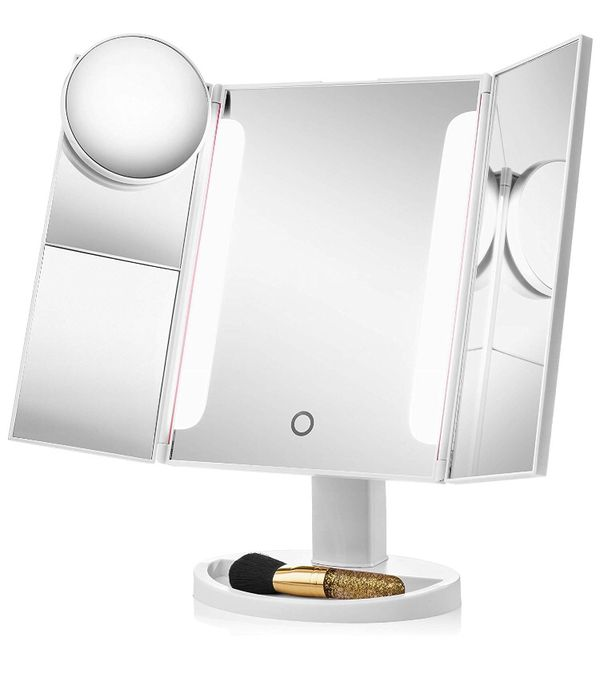 Lighted LED Makeup Mirror w/ 1x Magnifying Vanity-Brand New