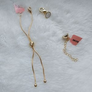 SALE. (1) ONE New 14k gold plated necklace extender Bolo or magnetic closure for Sale in Pompano Beach, FL