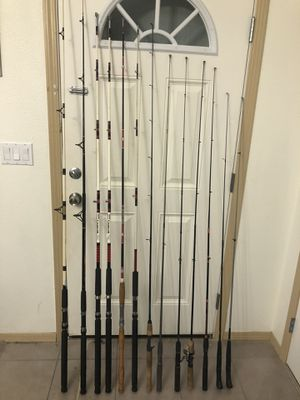 13 Fishing rods/poles, $15 each, 5ft - 7ft for Sale in Portland, OR