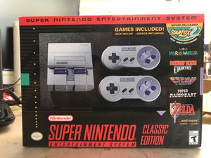 Super Nintendo classic edition new in box for Sale in Marysville, WA
