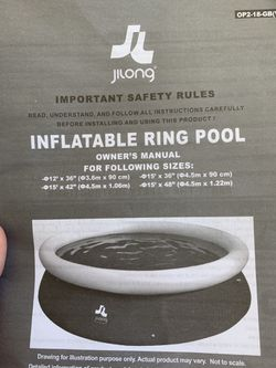 Inflatable ring pool for Sale in Vienna,  VA