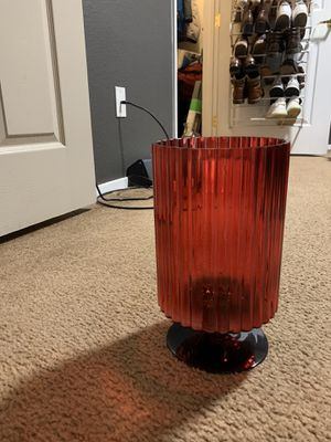 Red vase for flowers or decor for Sale in Sacramento, CA