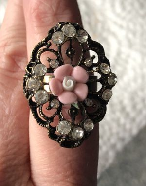 Pretty Pink Rose Victorian Adjustable Ring for Sale in Parkville, MD