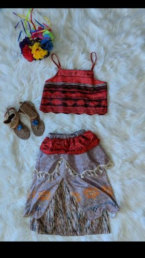 Moana costume and sandals 6/8 for Sale in San Diego, CA