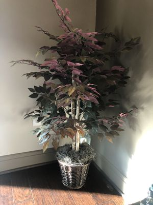 Beautiful fall colored plant (not a real plant/ fake). Pristine condition. Was on display for only a month. for Sale in Houston, TX