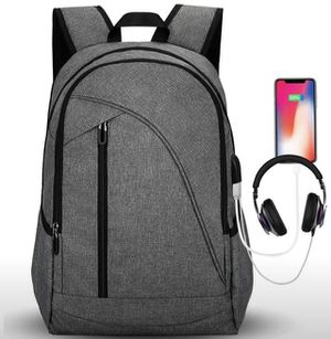 Laptop Backpack for School & Travel, Tocode 17'' Laptop Computer Bag for Mens and Women with USB Charging Port/Headphone Jack Water Resistant Large C for Sale in New Brunswick, NJ