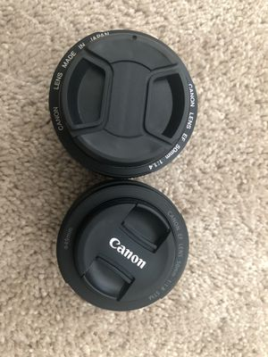 Canon 50mm 1.4 and 1.8 lens for Sale in Duluth, GA