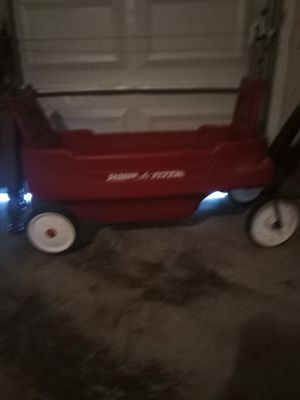 Red wagon with seat belts with cupholders for Sale in Baton Rouge, LA