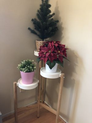 IKEA plant stand (artificial plants included) for Sale in Rockville, MD
