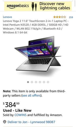 Lenovo Yoga 2.1 laptop for Sale in Lynnwood, WA
