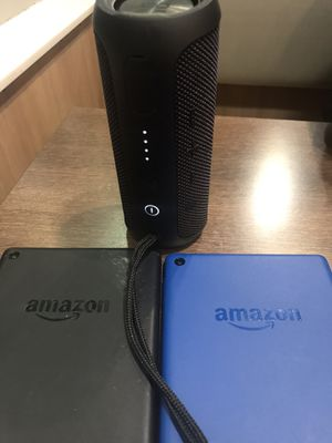 Jbl4 speaker & kindle fire amazon tablets for Sale in South Holland, IL