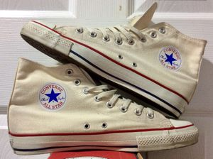 Late 90s-early 2000s Converse Chuck Taylor All Star Hi Top Made In USA 🇺🇸 Unbleached White for Sale in Agoura Hills, CA