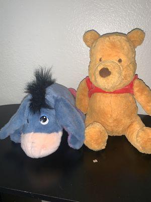 Disney Gund Classic Winnie The Pooh Plush Toy + Disney Eeyore Ask Me More Plush for Sale in Las Vegas, NV