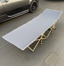 New in box $50 Heavy Duty 75x27 Inches Camping Cot Portable Folding Camp Bed with Carry Bag, Max 300 lbs for Sale in Whittier,  CA
