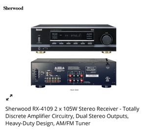 Stereo Receiver Sherwood, Technics Bookshelf Speakers, Bluetooth adapter included for Sale in Sanford, FL
