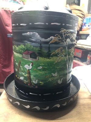 Painted chicken waterer for Sale in Gilberton, PA
