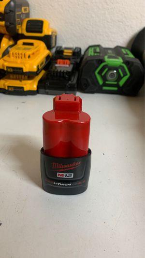 MILWAUKEE 2.0 M12 battery for Sale in Glendora, CA