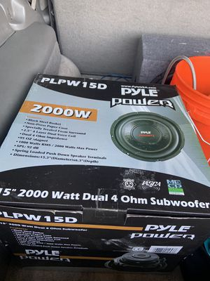 15 inch subwoofer brand spanking new great quality!!!!! for Sale in Manassas, VA