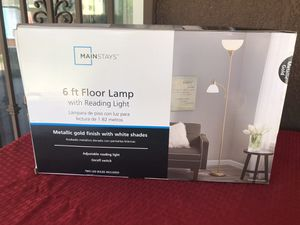 6 ft floor lamp with reading light new for Sale in Lodi, CA