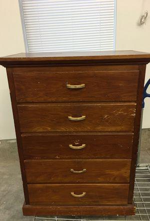 Old solid wood dresser $45 for Sale in Granite Falls, WA