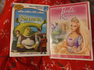 Barbie as Rapunzel and Shrek movies for Sale in Aurora, CO