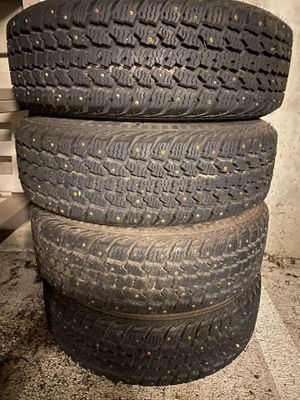 Set of studded and sipped snow wheels and tires for Sale in Tacoma, WA