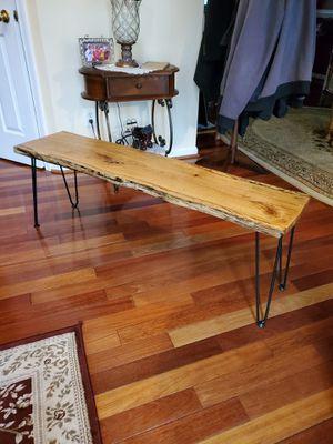 Nice solid oak handmade indoor/outdoor bench for Sale in Manassas, VA