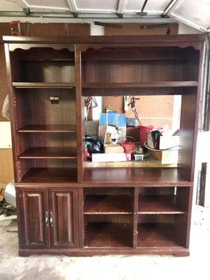 Wooden shelves/ entertainment center for Sale in CORP CHRISTI, TX