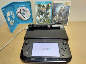 Nintendo Wii U with 3 games works perfect!!! for Sale in Las Vegas, NV