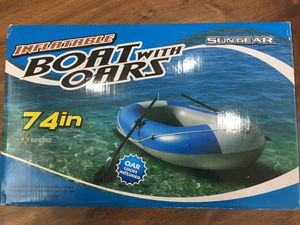 Inflatable boat with oars for Sale in Redmond, WA