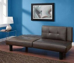New Couches And Loveseats Leather Futon Sofa Bed Sleeper For Small Spaces Room Brown for Sale in Houston, TX
