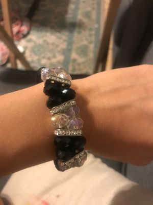 Black and White Crystal Bracelet for Sale in Phoenix, AZ