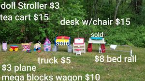 Kids Toys Desks, Kitchen, Tea Cart, Bed Rail, Castle Lights Up, Truck for Sale in Billerica, MA