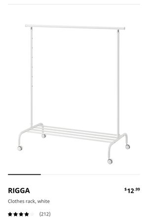 IKEA Rigga clothes rack -2 for the price of one! for Sale in Philadelphia, PA