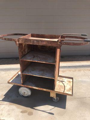 Vintage Welders Metal Push Cart w/ Shelves for Sale in Midland, TX