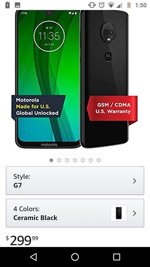 Motorola G7 Unlocked Brand New for Sale in West Springfield, MA