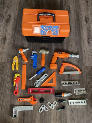 Home Depot Talking Toolbox w/ Tools - 15+ Pieces Kids Toys Child for Sale in St. Petersburg, FL