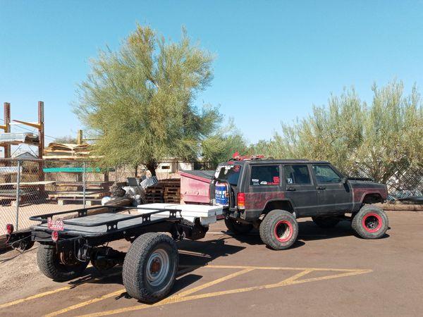 14ft 1 ton axel utility trailer