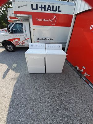 Washer dryer electric set no issues free delivery and install also can haul away your old broken appliances for Sale in St. Louis, MO