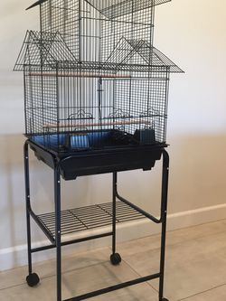 Temple Top Bird Cage With Stand On Wheels BRAND NEW for Sale in Los Angeles,  CA