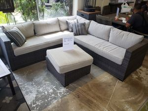 Brand New Patio Furniture 10 percent off sectional with ottoman for Sale in Hayward, CA