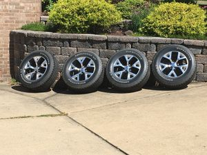 2015-2018 Jeep Cherokee OEM wheels with TPM sensors and Goodyear Destination A/T tires with only 6,500 miles for Sale in Washington, PA