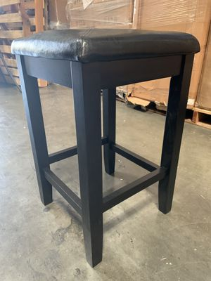 Square Upholstered Seat Bar Stool (Each), 24-inch, Black for Sale in Rowland Heights, CA