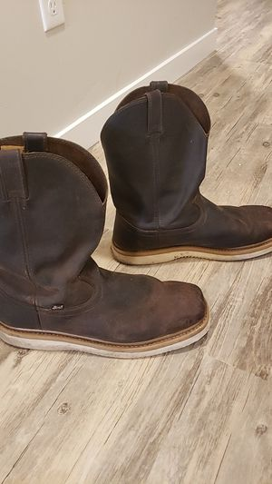 Justin Square toe mens boots size 14m for Sale in Prineville, OR